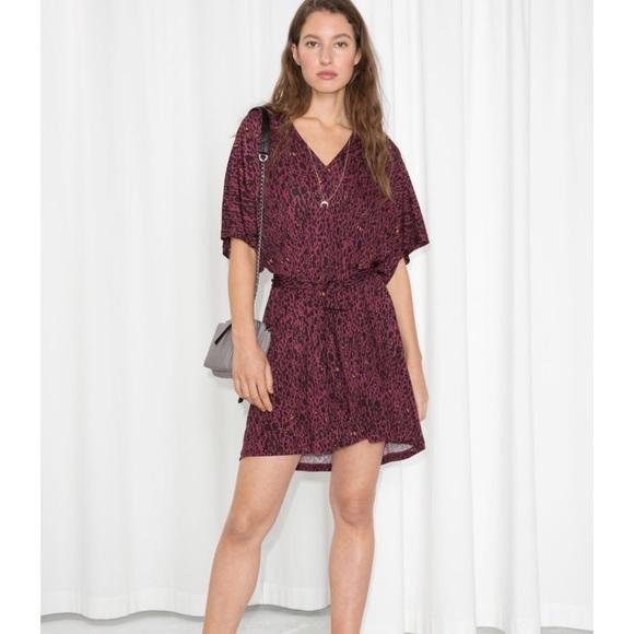 0d76ddba4 & Other Stories Dresses   Abstract Leopard Print Belt Dress   Poshmark